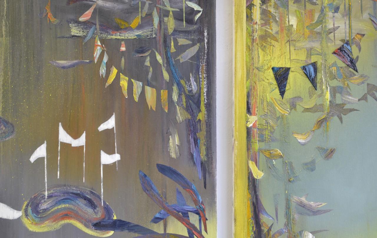Terrain II & Terrain III (Detail)| oil on canvas | each 65 x 75 cm | 2015