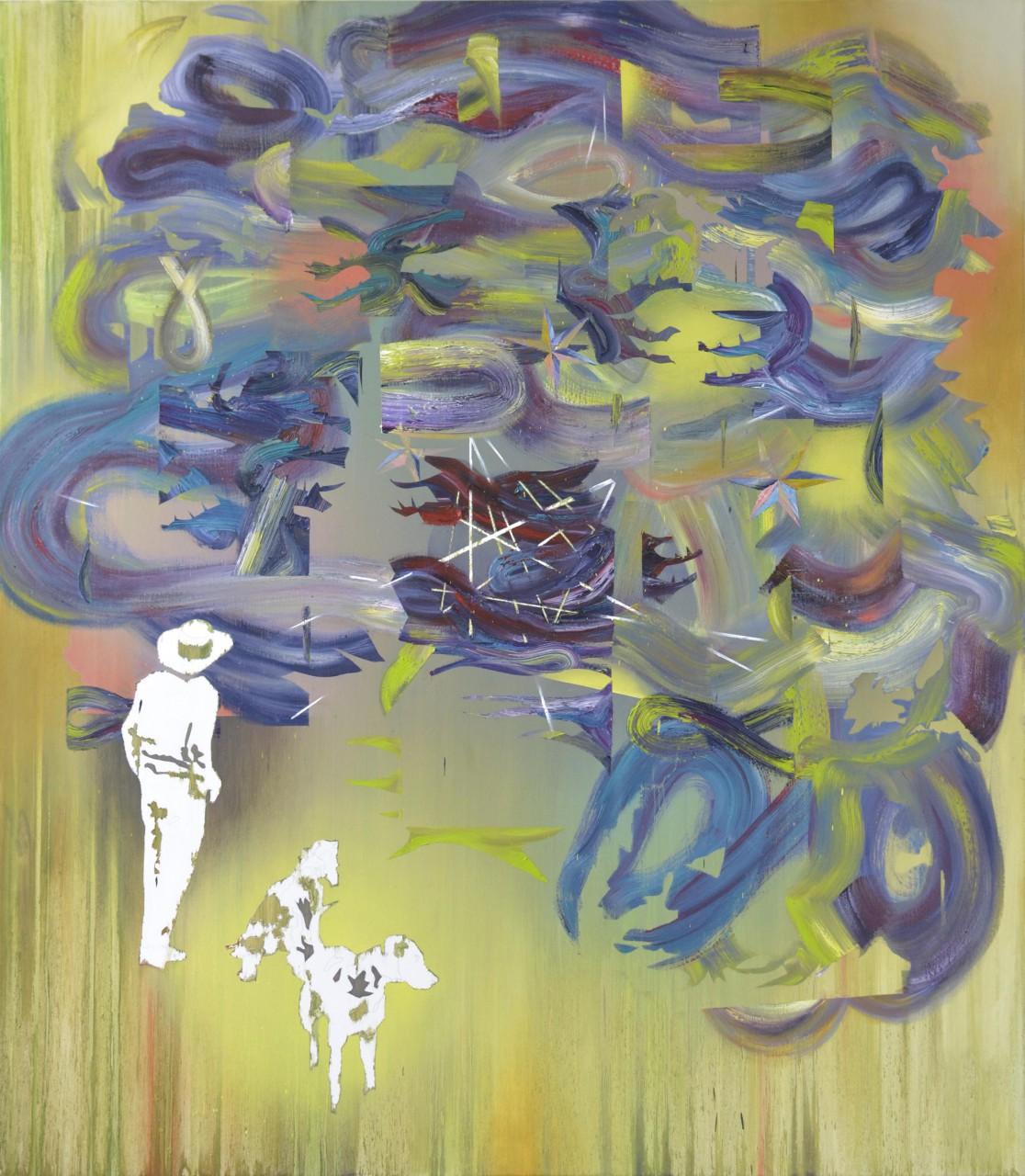 Dickicht | oil on canvas | 160 x 140 cm | 2014