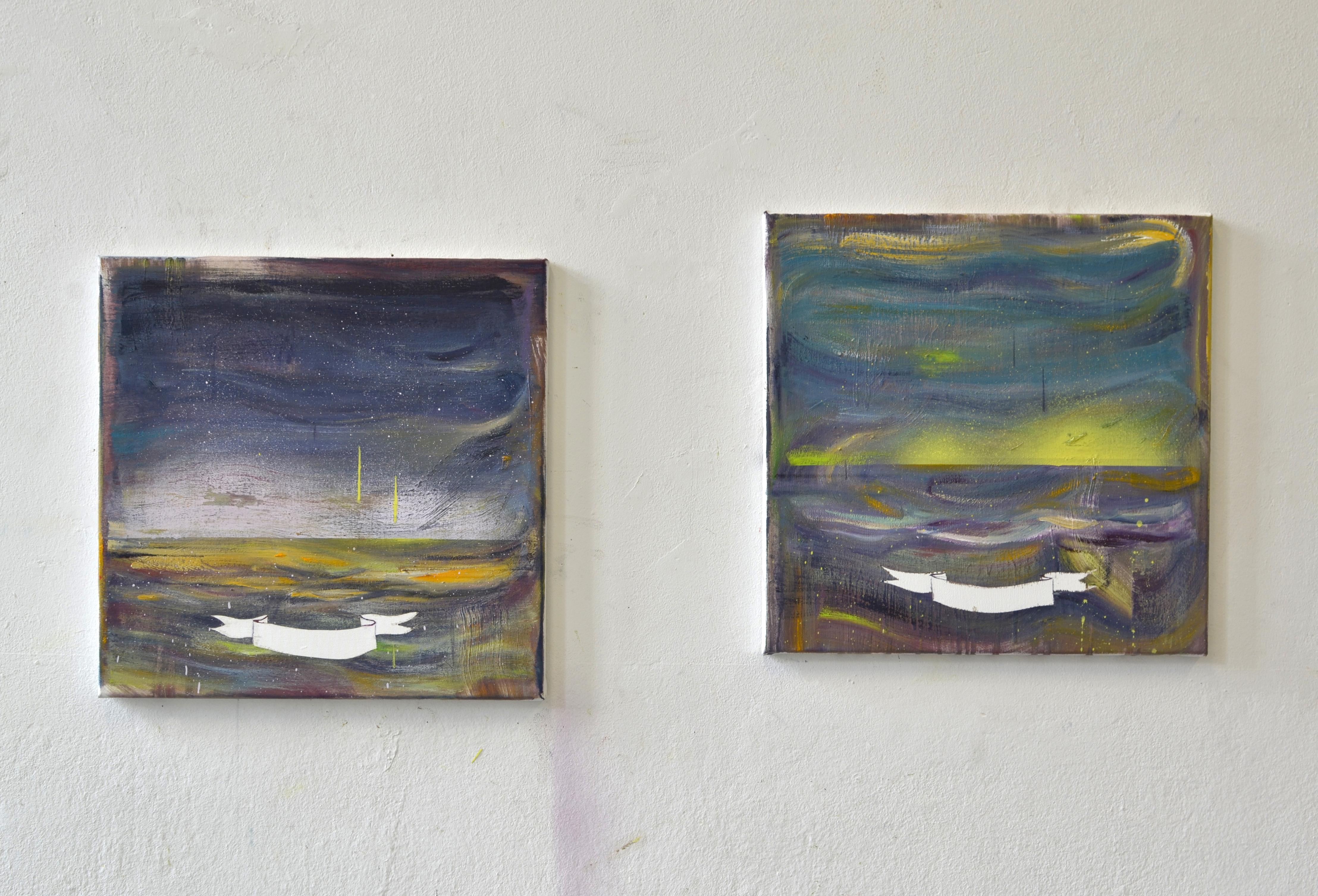 Etude I & Etude II | oil on canvas | each 50 x 50 cm | 2016