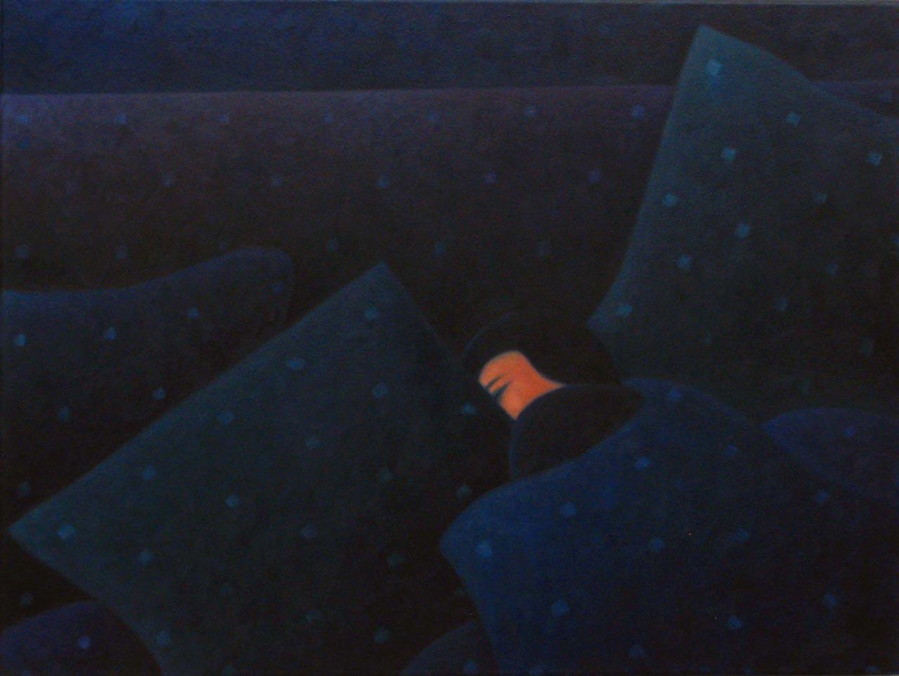"""""""Schlafende Frau"""", 67 x 50cm"""