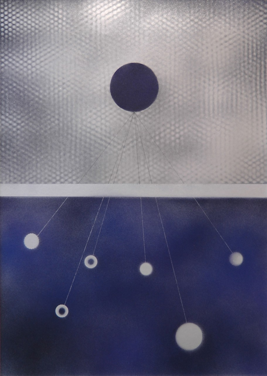 VTRL, mixed media on paper, 70x50 cm, 2014