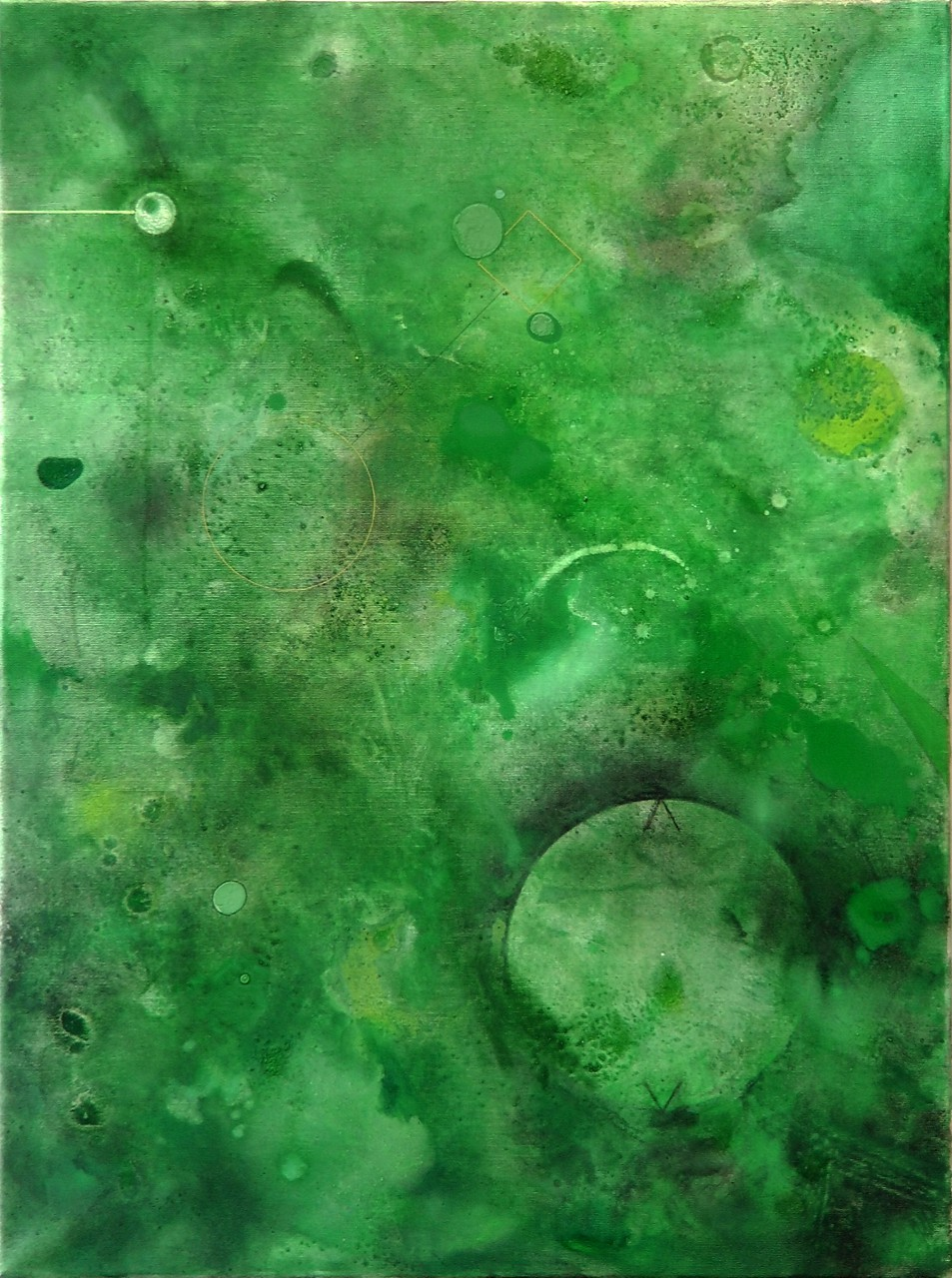 Tabula Smaragdina, mixed media on canvas, 90x70 cm, 2015