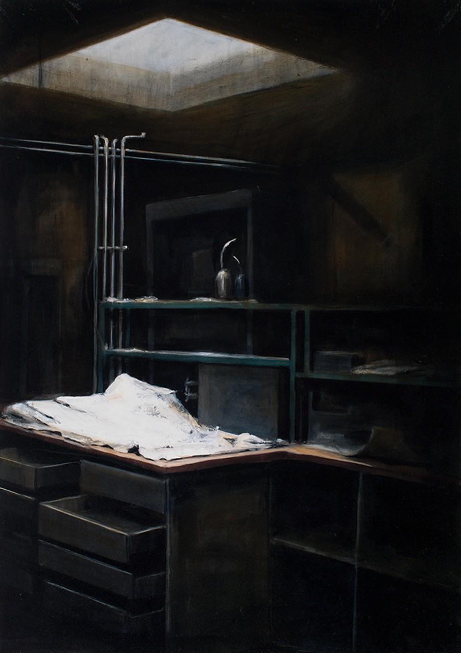 oberschöneweide, 2014, öl/leinwand, 100 x 70 cm