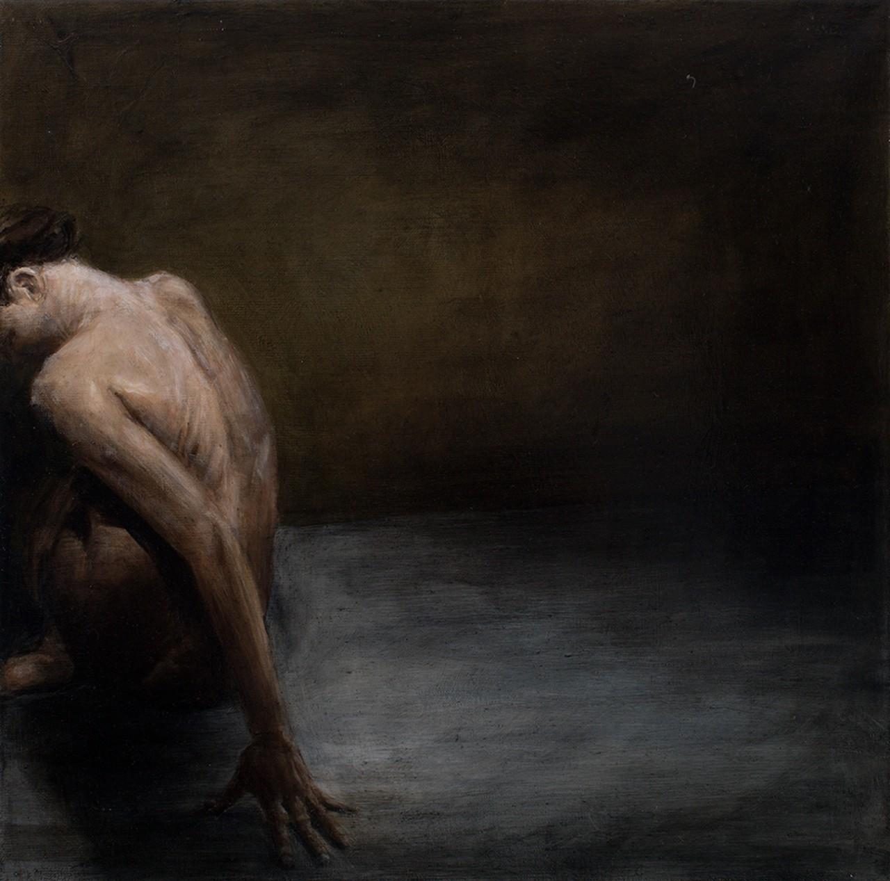 rückenakt, 2014, öl/leinwand, 40 x 40 cm