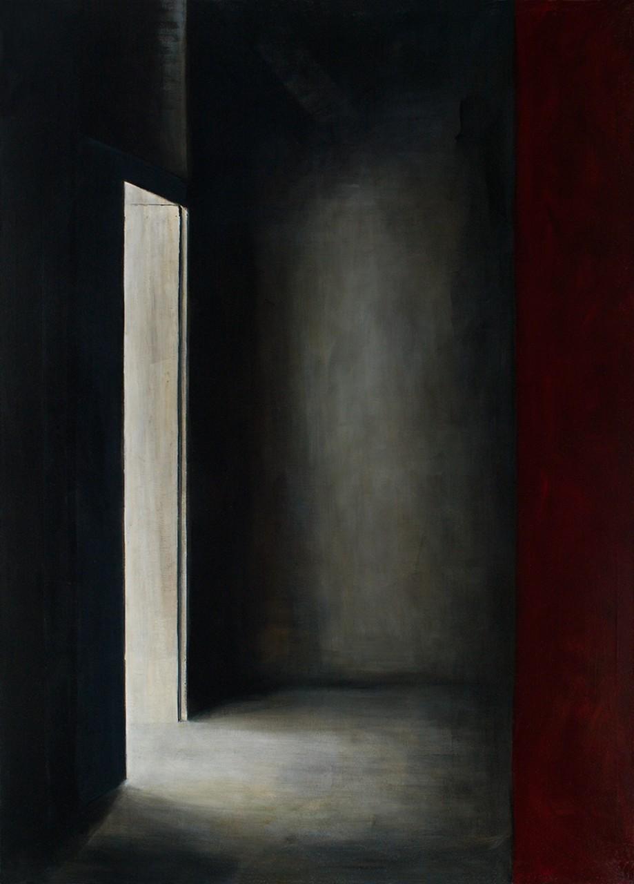 offene tür, 2015, öl/leinwand, 180 x 130 cm
