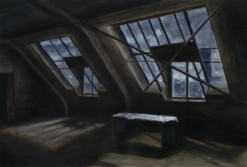 grosse fenster, 2015, öl/leinwand, 80 x 120 cm