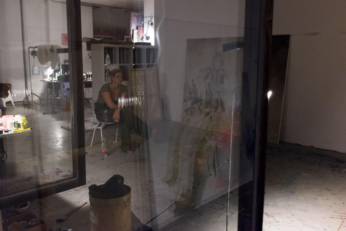 Miriam Vlaming in her studio, 2014 II Photo: © Giorgio Morra
