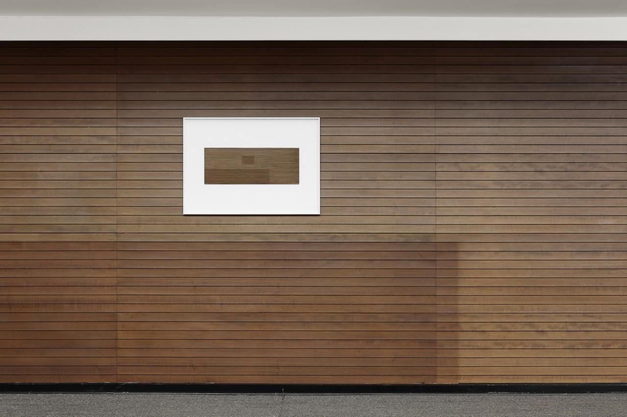 ›Kabinett, grafisch‹ 2015 / Installationsansicht / Wand im grafischen Kabinett / Kunstverein Bremerhaven