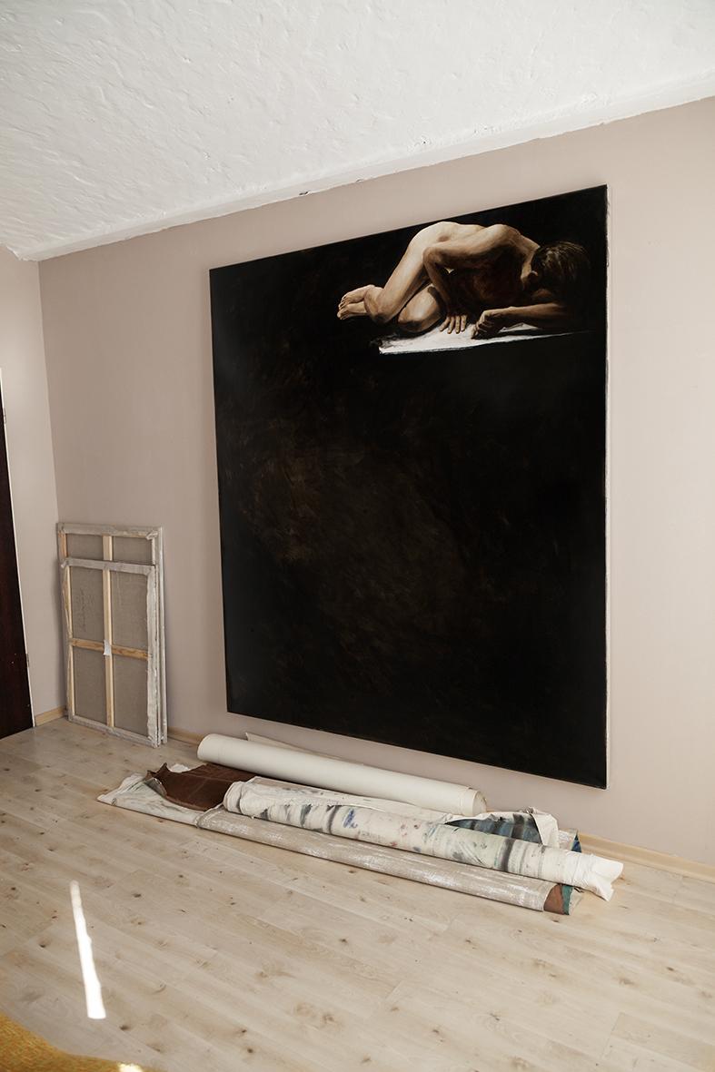 gestern nachts, 2013, öl/leinwand, 220 x 190 cm