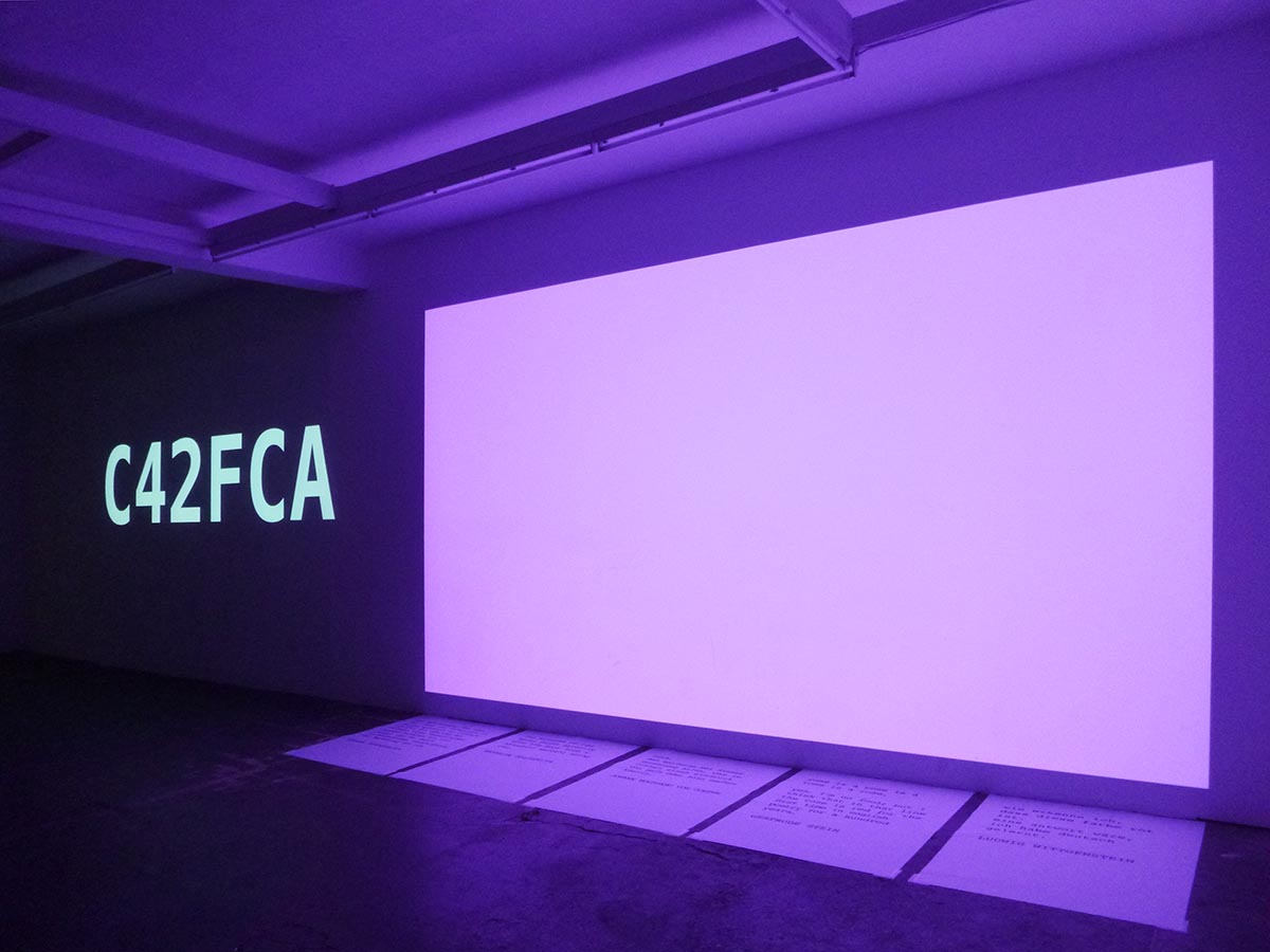 """SECONDS MACHINE ( COLOR MODE I )"" KW institut of contemporary art, berlin"
