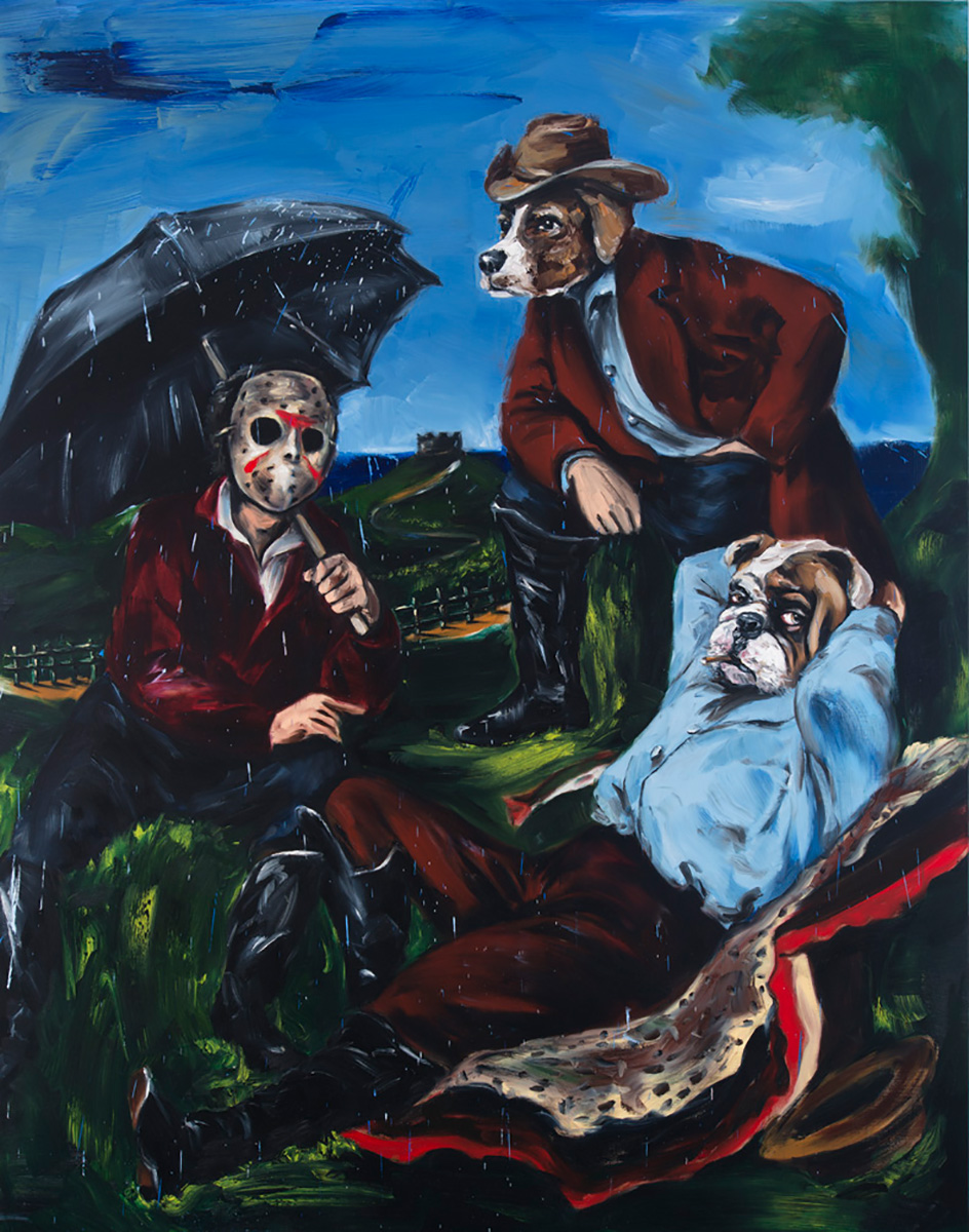 Déjeuner sur l'herbe | 2015 | 250 x 200cm | Oil on linen | Private Collection