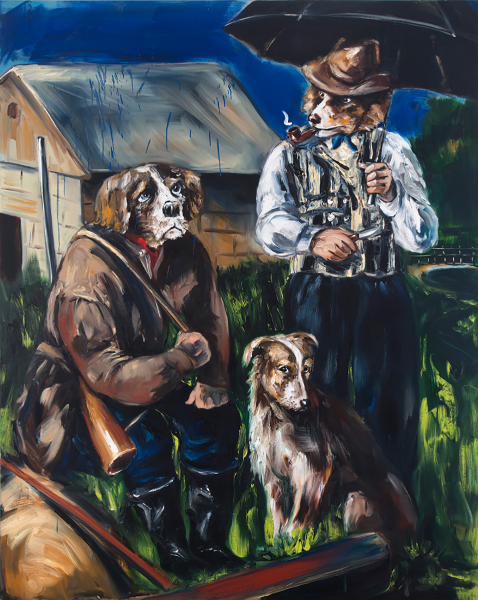Four Legs Good Two / Two Legs Better 2 | 2015 | 250 x 200cm | Oil on linen