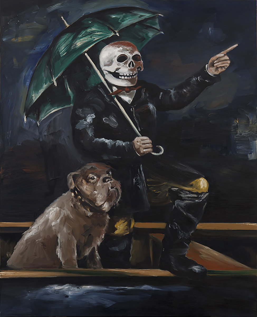 Rain Dog or the Umbrella Man 2 | 2010 | 250 x x200cm | Oil on linen