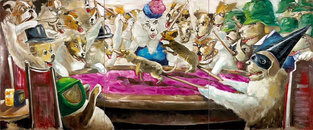 The Birthday Party (Le Cosmonaute) | 2006 | 250 x 600cm | Oil on linen
