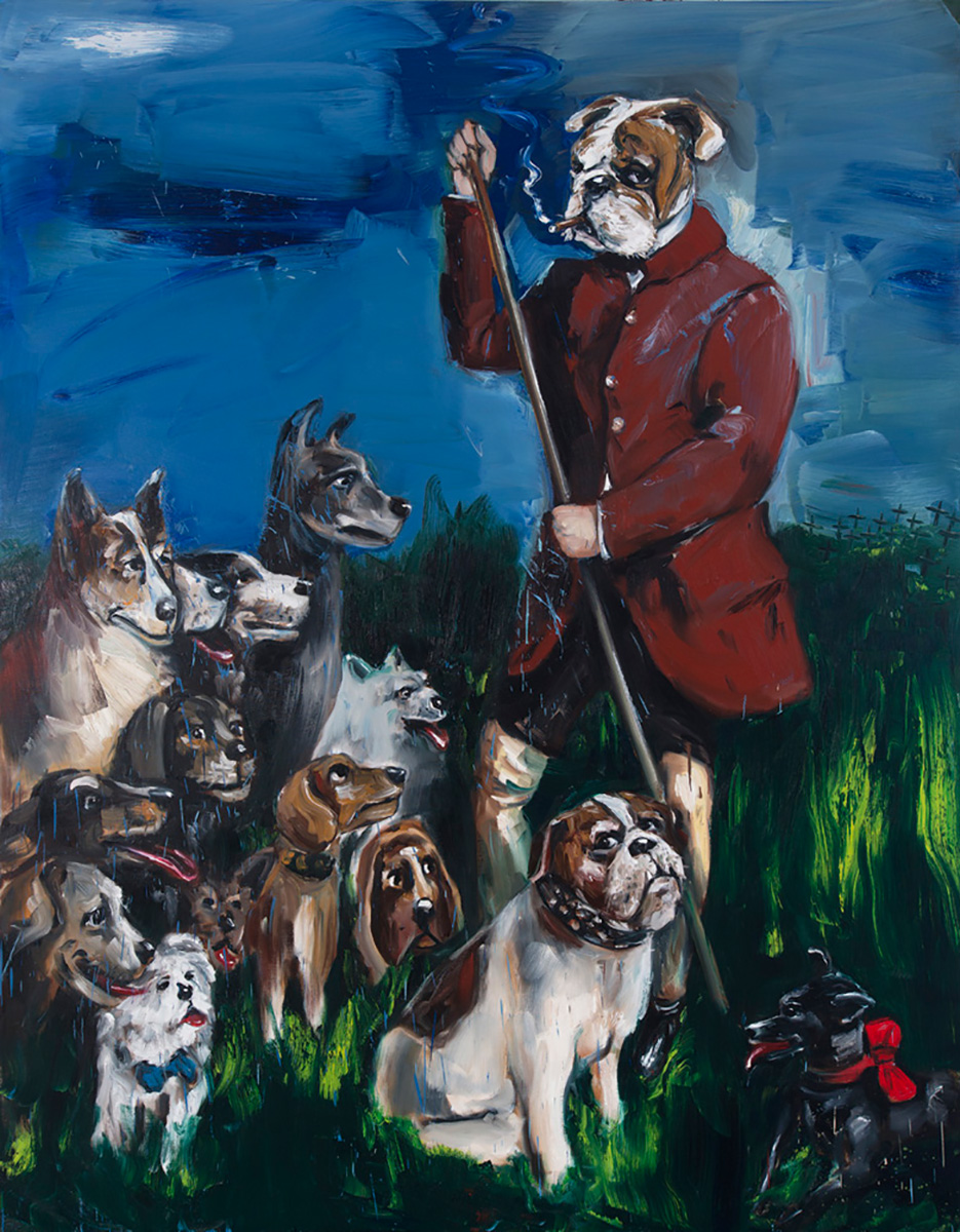 The Dog Walker | 2015 | 250 x 200cm | Oil on linen