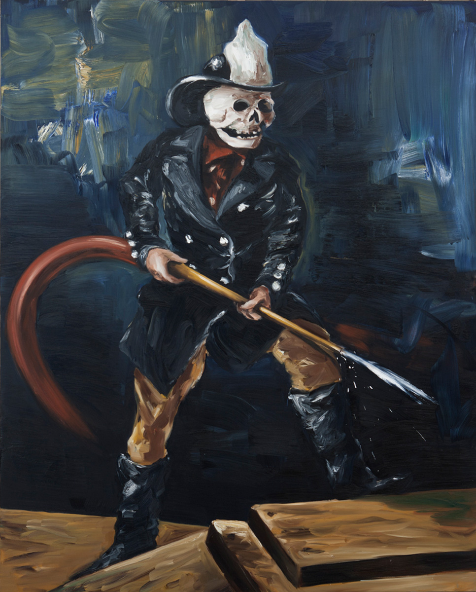 The Fireman | 2010 | 250 x 200cm | Oil on linen | Private Collection