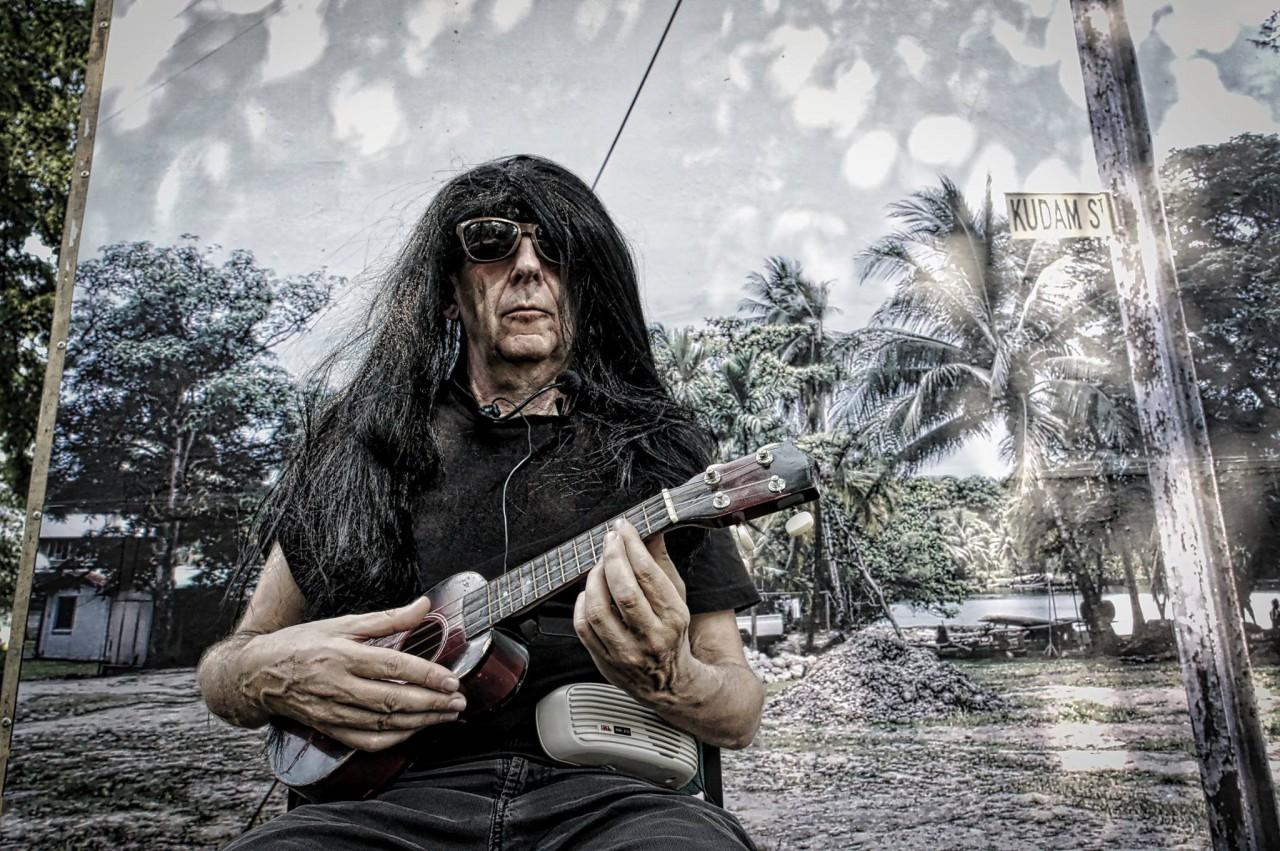 Self portrait with black wig