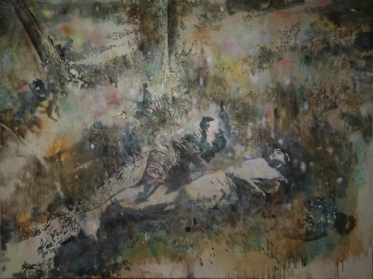 OPEN EYE. egg tempera on canvas 2015