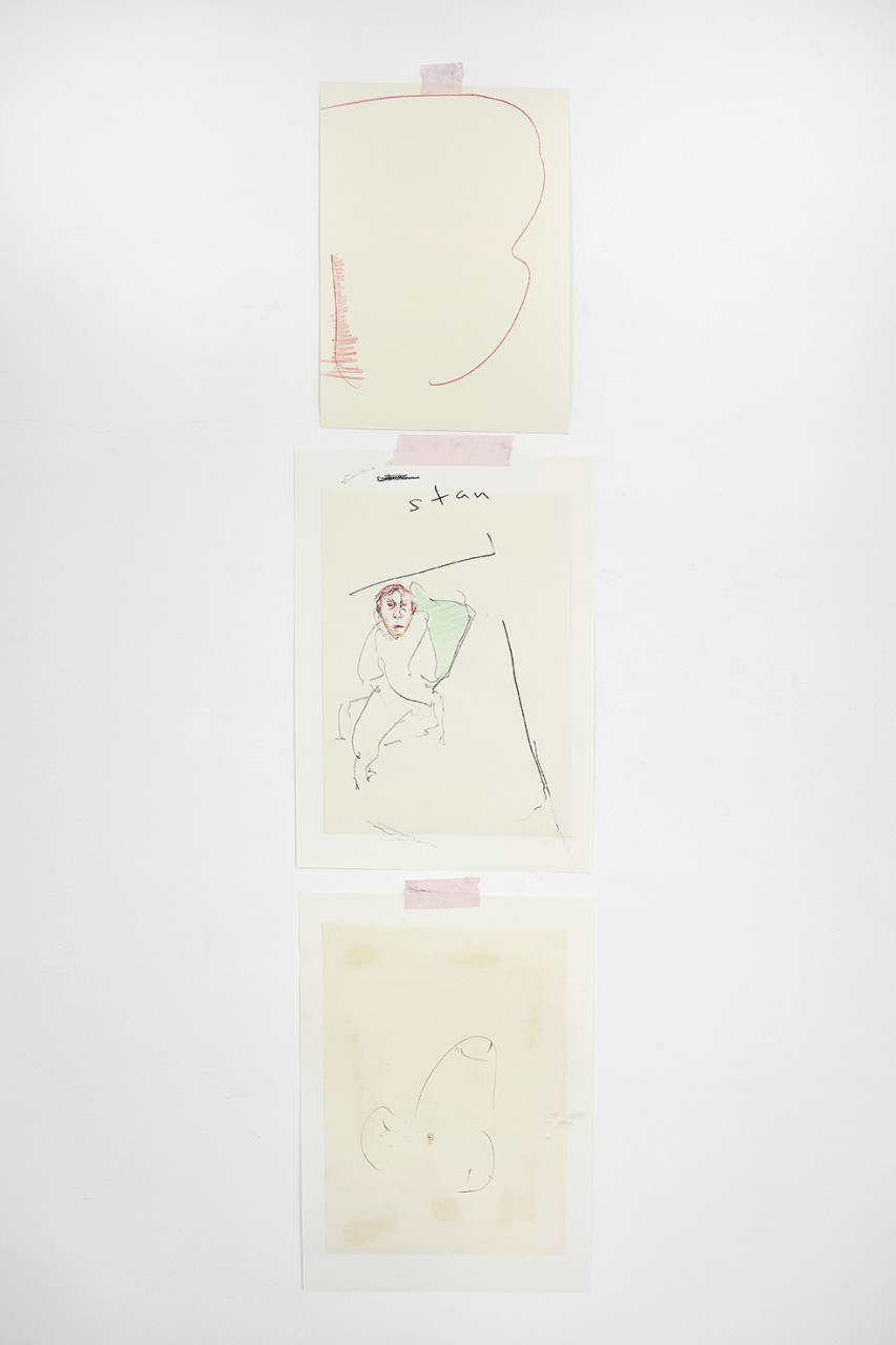 Struggle II, 2015 / Ballpoint Pen, Crayon and Pencil on Paper; Triptych, 2 x 29.7 x 42 cm, 1 x 24.6 x 34.6 cm