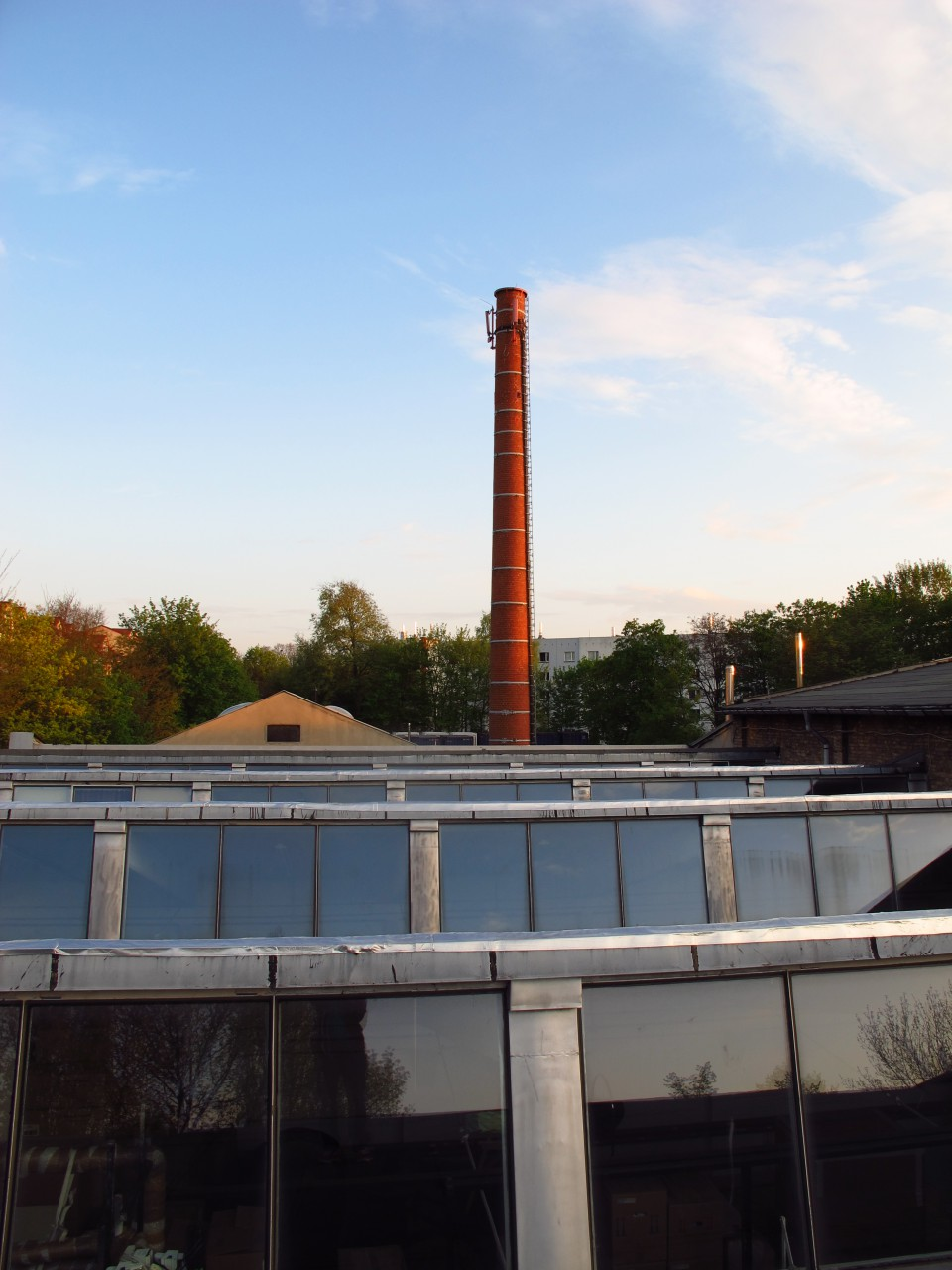 Studio roof top, view south