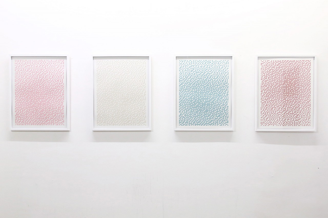 Gold, Poliertes Titan, Pink, Minze, Rot, ... 2014-2015, 3D-Siebdruck auf 600 g/m2 Leonardo Hahnemühle Papier je Farbe: Edition von 10 Stück, 65 x 50 cm