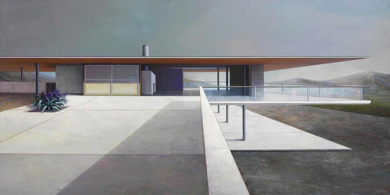 modern house, 18 / Dämmerung - 145 x 280cm - Öl auf Leinwand - 2013