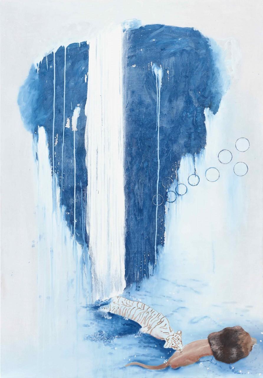 """Champ the bit"", 2015, oil on canvas, 200x140 cm"