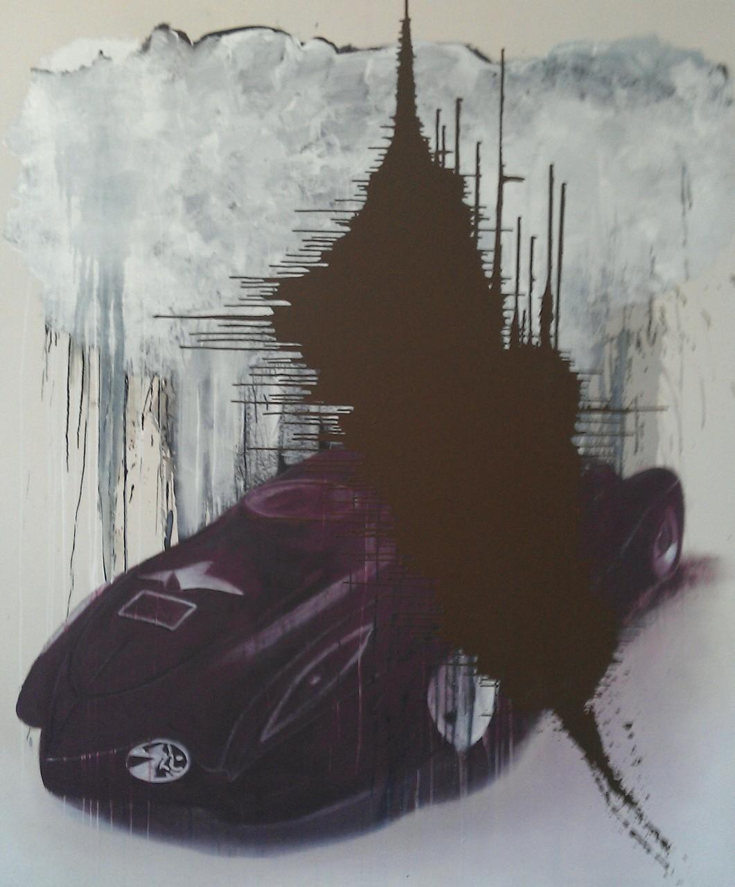"""Cross Fire"", 2015, oil on canvas, 240x210 cm"