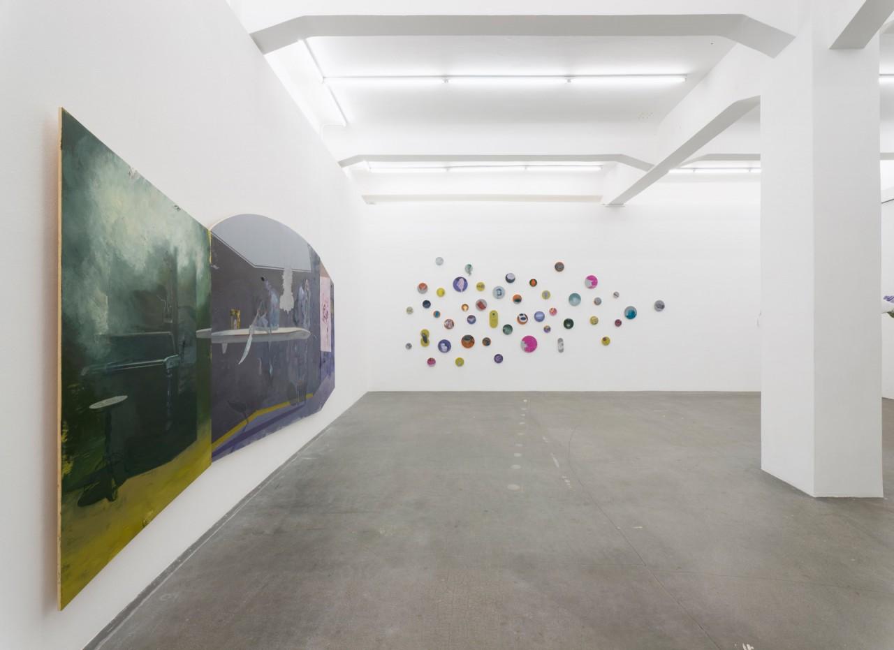 Installation shot of the exhibition The God of Small and Big Things at Gallery Crone