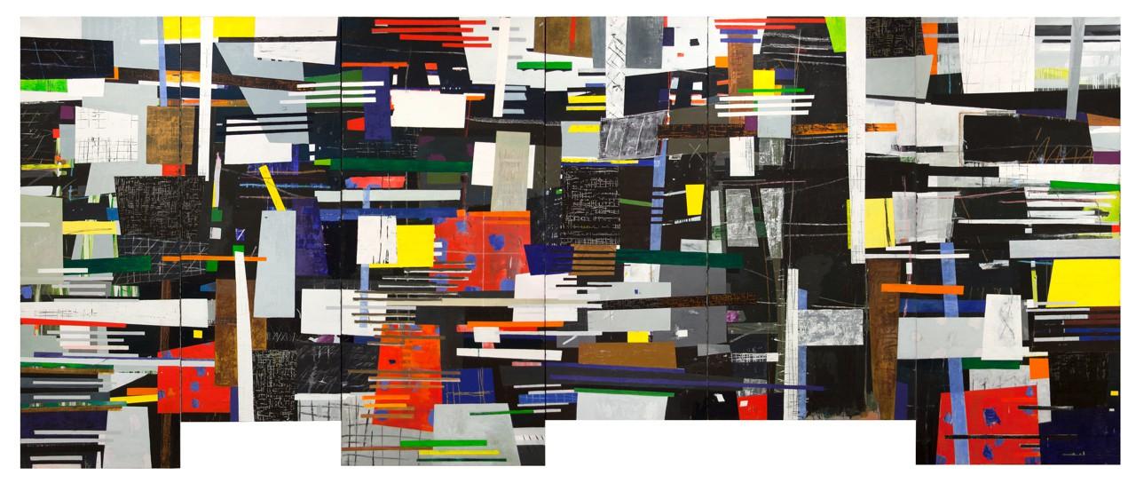 W VI (sechsteilig) 2011-2013 Öl/Leinwand 200 x480cm