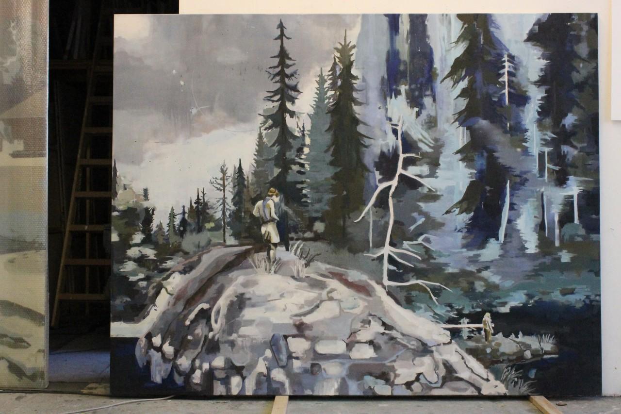 Refraktion, 180x 230 cm Öl auf Leinwand 2014/15