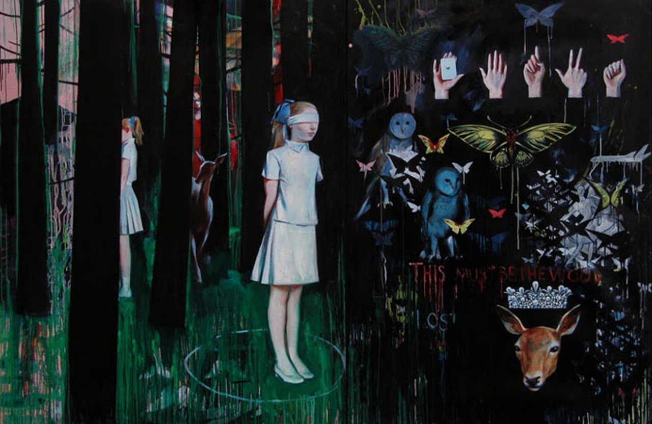Wonderland | 2006 | Oil on canvas - diptych | 180 x 250 cm