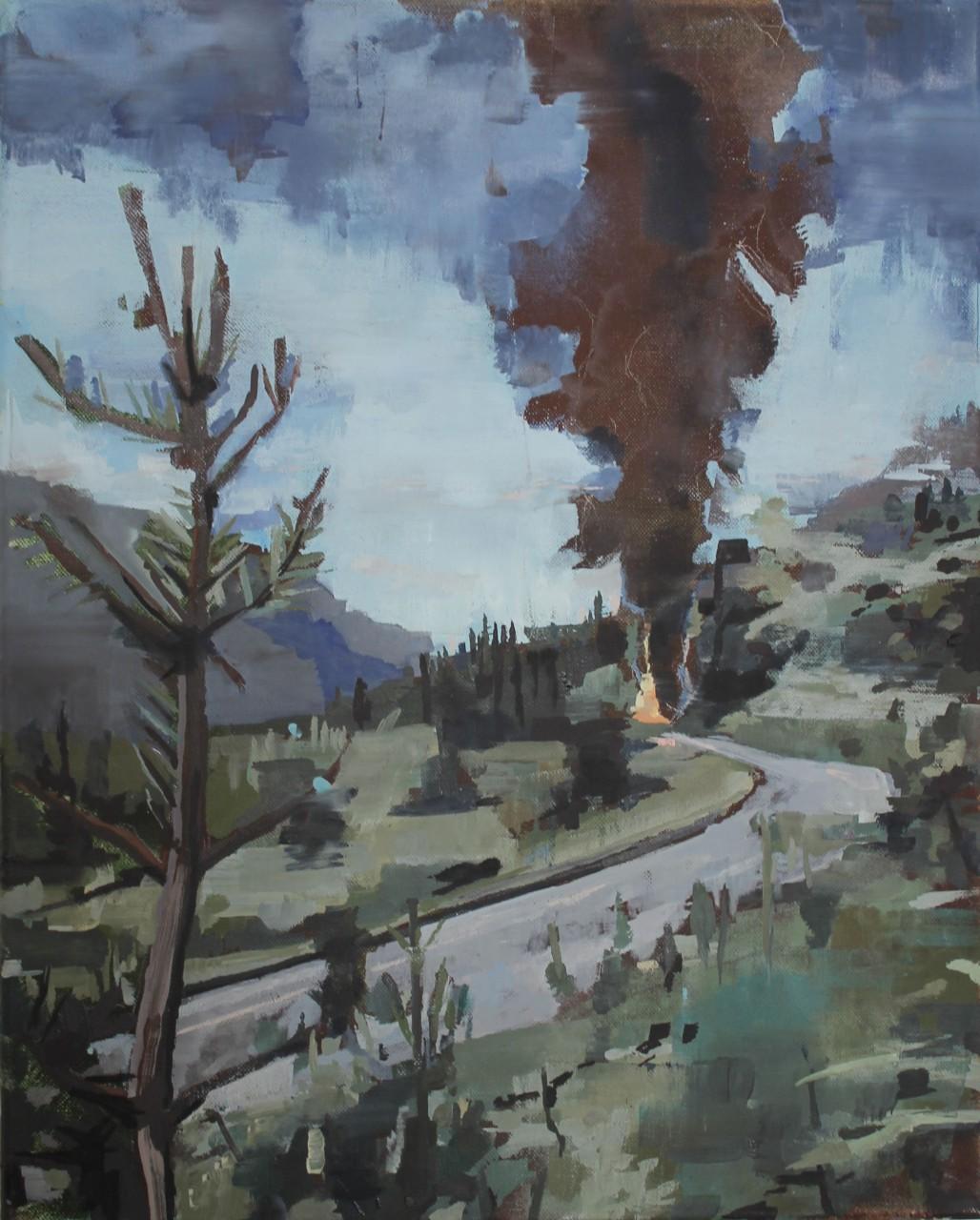 Kein Gewitter, 50x 40cm ,Öl auf Leinwand, 2015