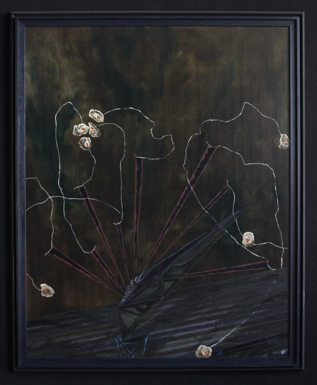 secret ground ( version 2 ), 2015, 88 x 108cm, oil on nettle