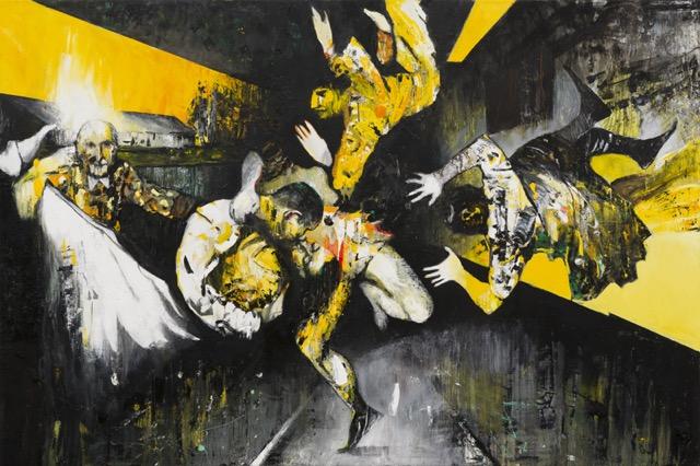 The Kiss, 2015 Öl auf Leinwand, 200 x 300 cm