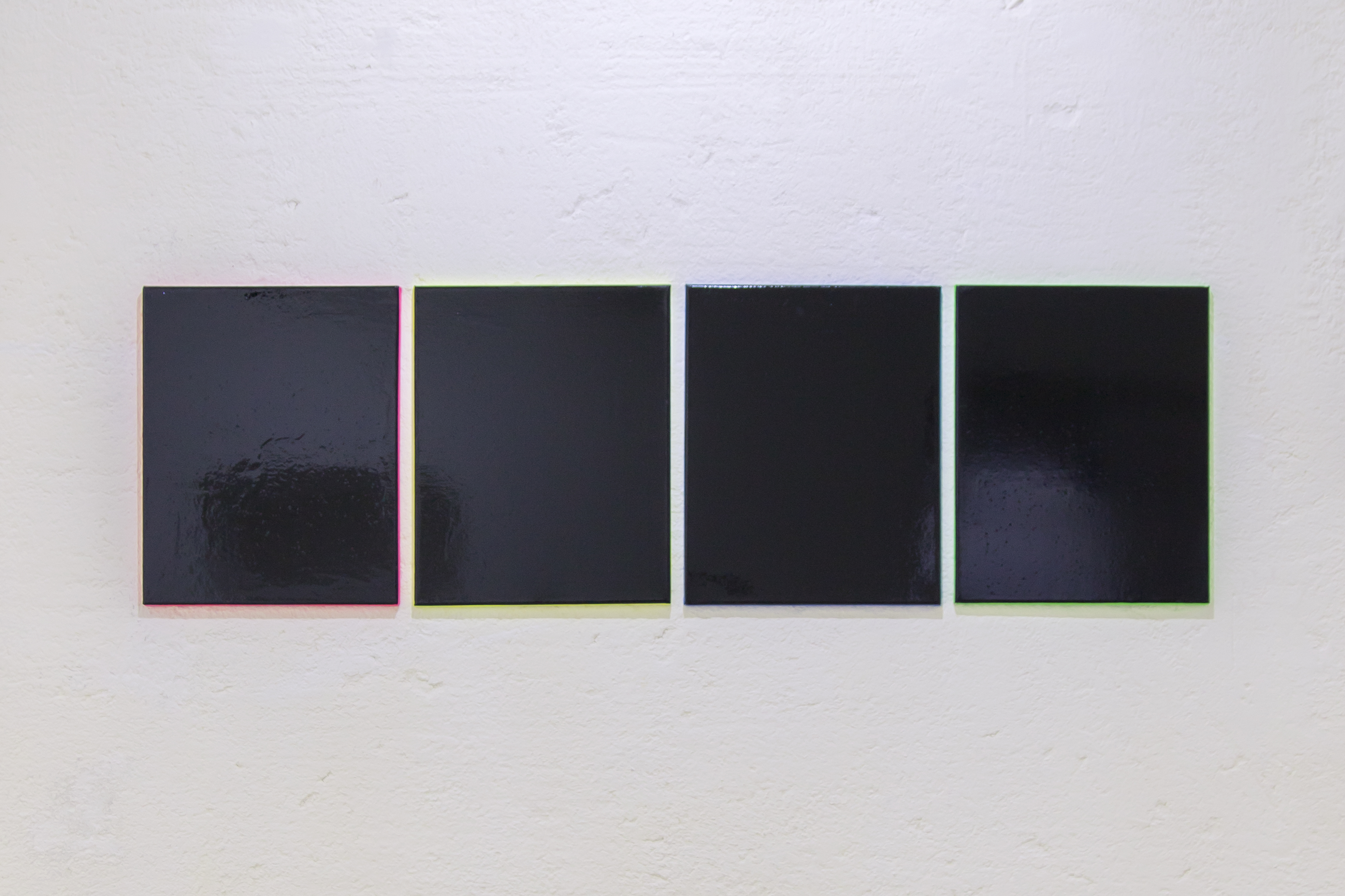 Untitled (to R.R.), Synthetic enamel paint and alkyd enamel on canvas, 50 cm x 40 cm each, 2014 - 2016