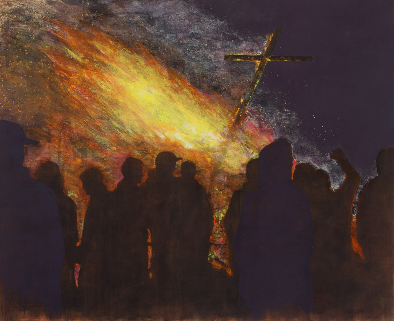 Kreuzfeuer, 155 x 190 cm, oil on canvas