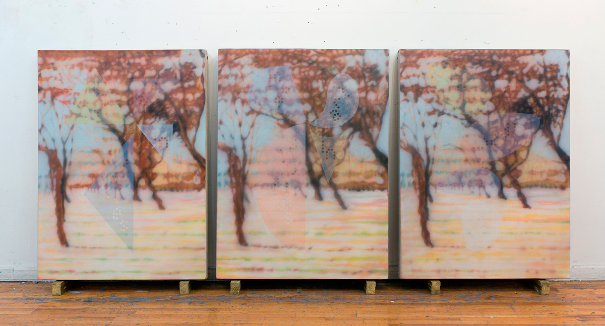 Untitled (Art made...). 2015.Triptych. 108 x 80 cm (each) / 108 x 250 cm (overall)