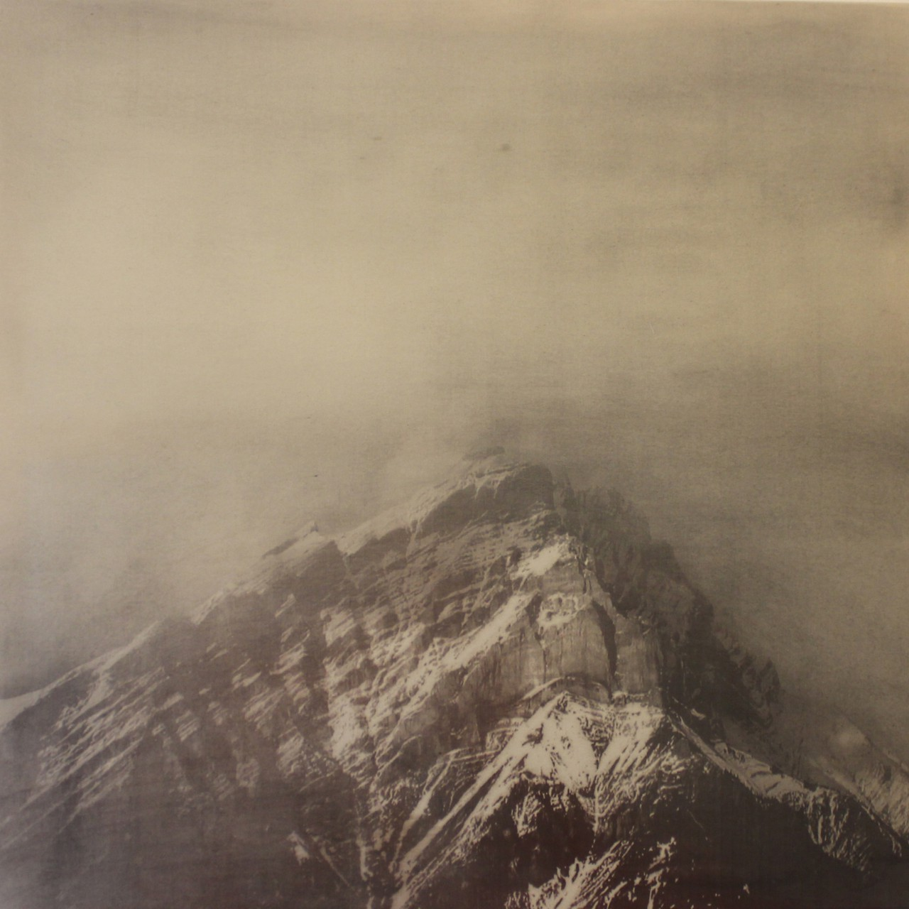 Castle Mountain - Graphite, dust and pigment 100cm 100cm