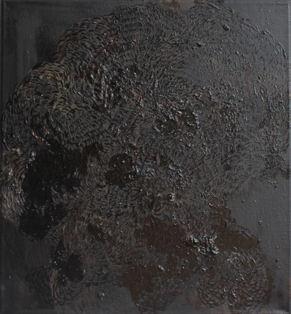 BLACK on BROWN | oil on canvas, 66 x 60 cm, 2016