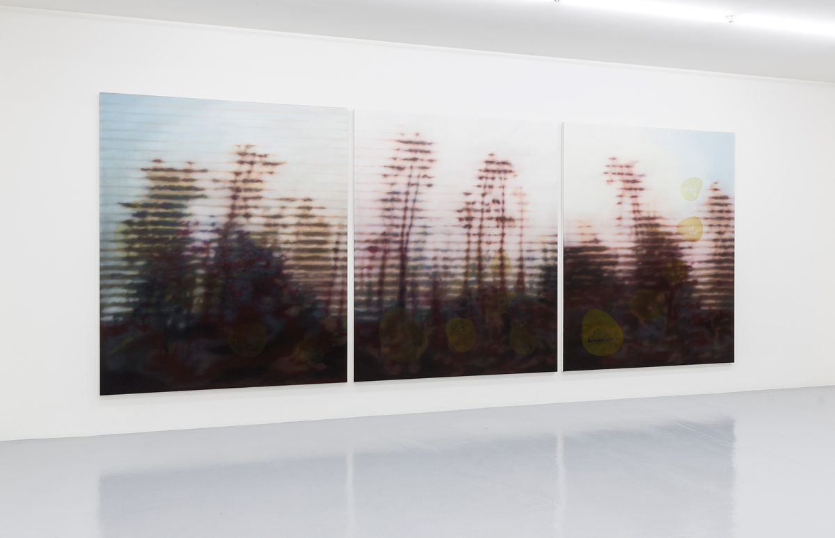 Untitled (Curator's Pick... -After Hobbema-). 2015. Triptych. Oil on canvas. 230 x 190 cm (each). a) Curator's pick of the month... / b) Curator's pick of the week... / c) Curator's pick of the day... ©Photo by Peter Baracchi