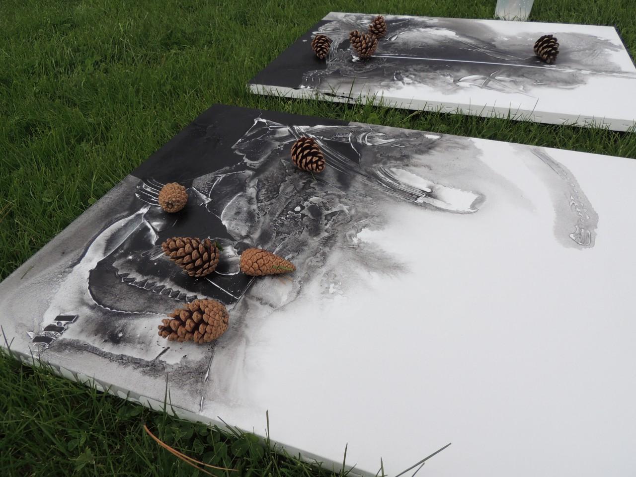 art work at symposium in Macedonia