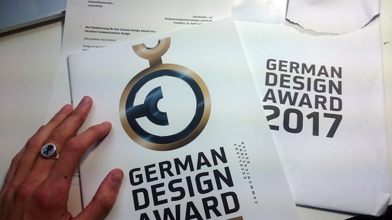 German Design Award 2017 - Nominierung für www.maltekebbel.de