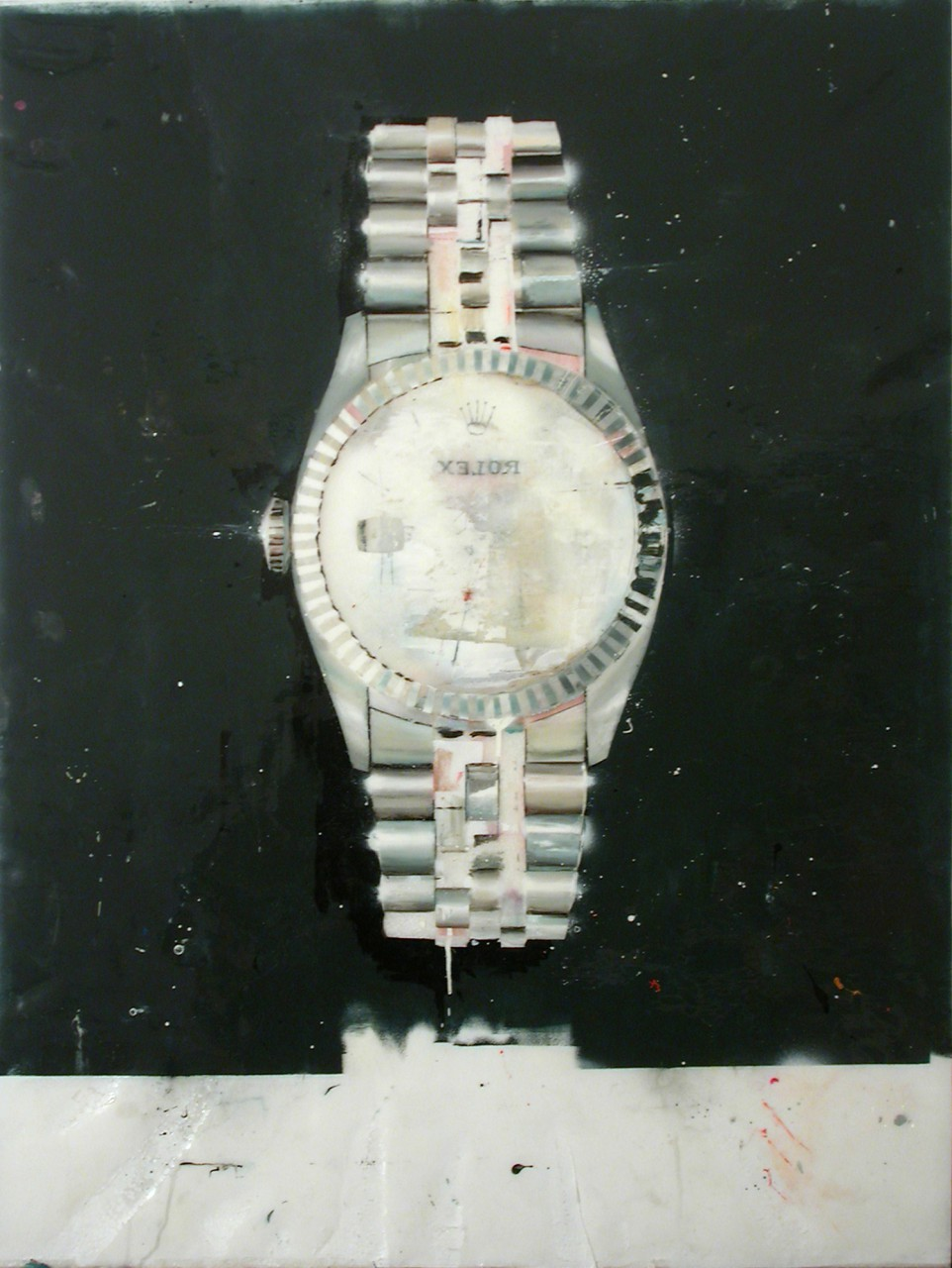 Rolex white gold | 2003 | varnish on fiberglass | 132 x 100 cm