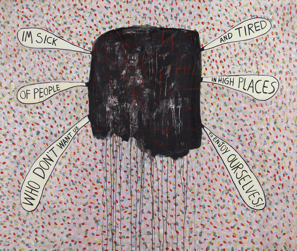 Quote and Revolt | 2012 | Acrylic on canvas 160 x 190 cm