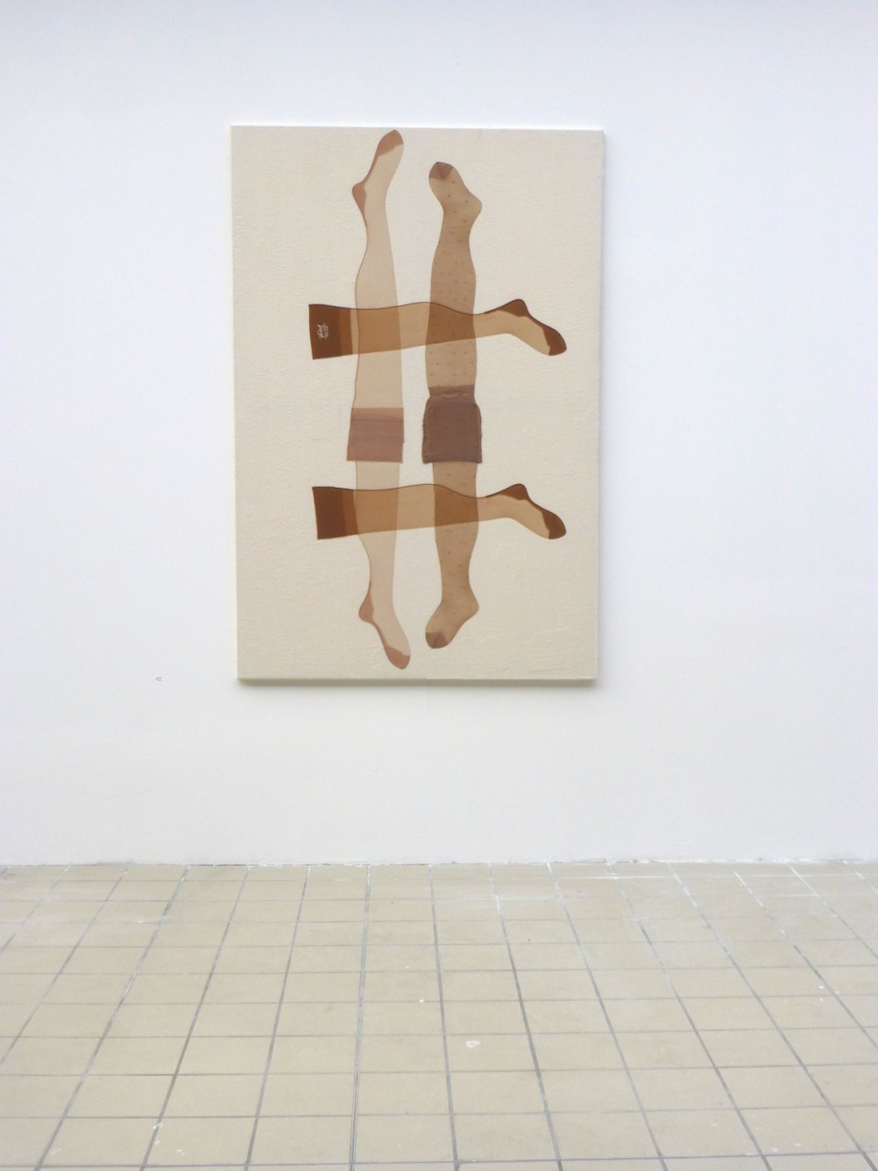 Hildegard Nr.9, Nylons on Molton needled, 180x120 cm, 2015
