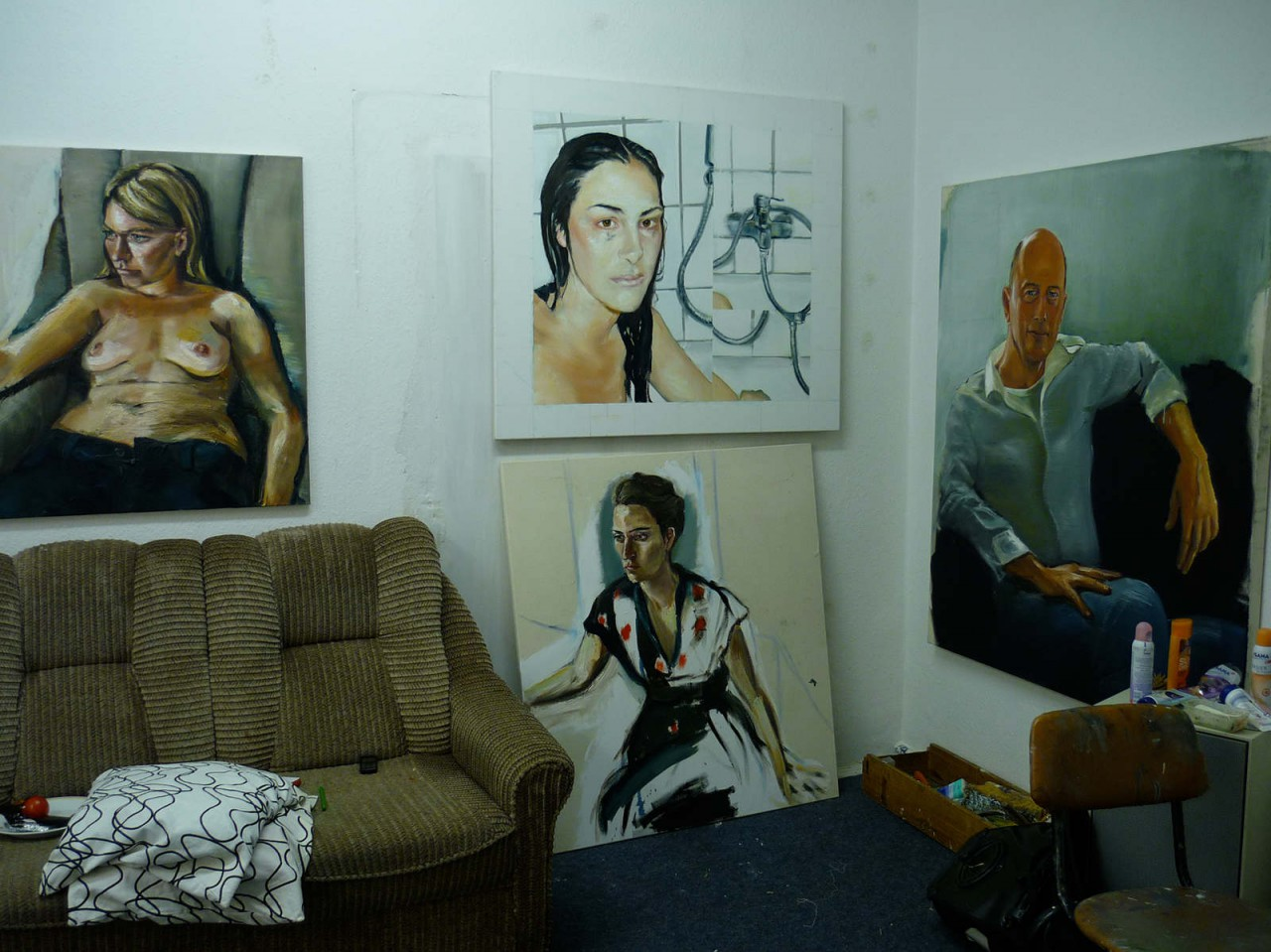 In the studio, Leipzig, 2011