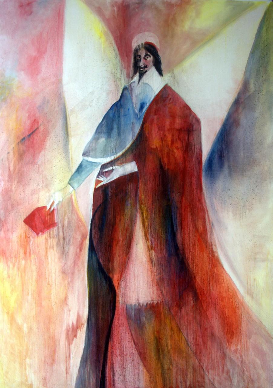 Cardinal Richelieu, 260x200cm, Öl auf Leinwand