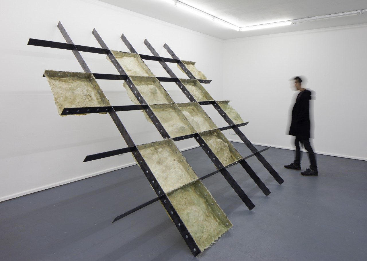 mapping; 2015, sculpture; moulds, steel, bolts; 360 x 320 x 210 cm (photograph: Sergio Belinchón)