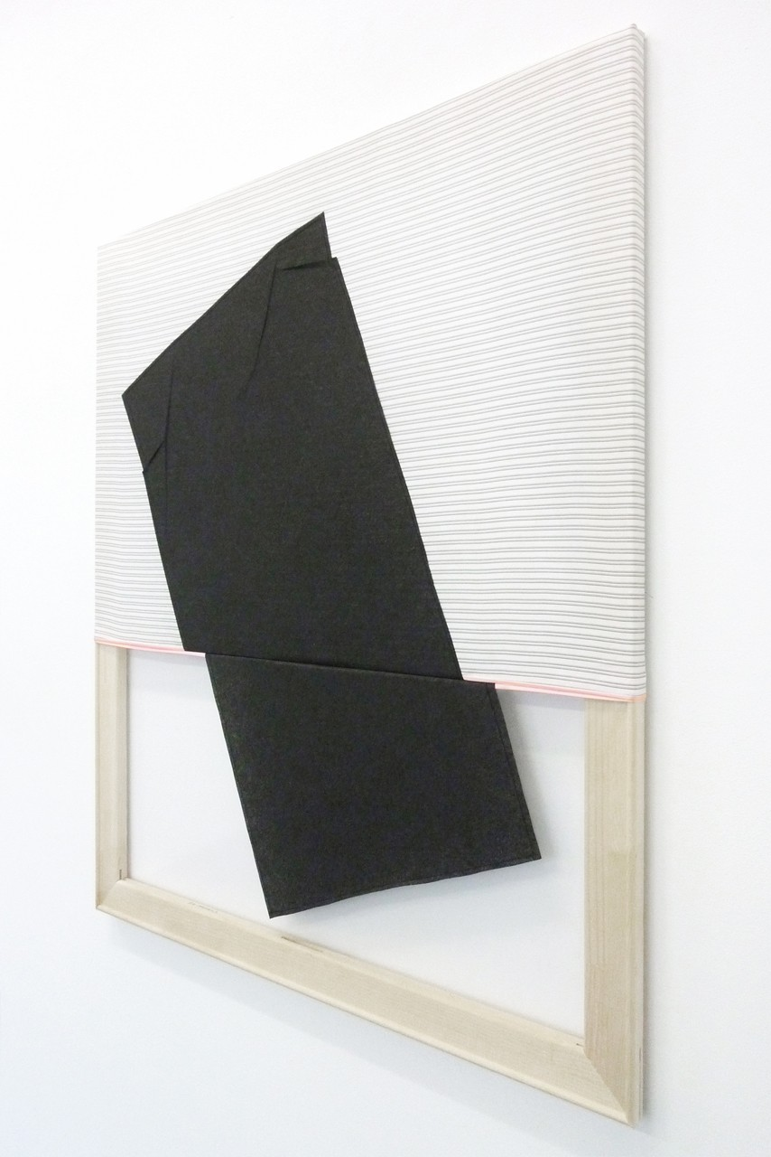 Ace High, 2012, Stoff, Folie (vernäht), 100 x 80 cm